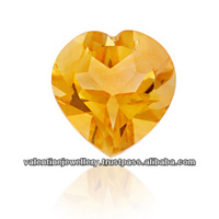 Natural Yellow Citrine Heart Cut Calibrated Stone, loose natural precious transparent citrine stones