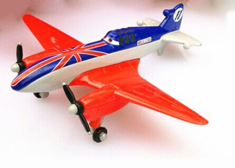 100% Original Pixar Planes Wings Around the Globe UK Racer Bulldog 1:55 Diecast Plane New Loose