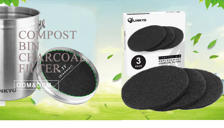 Creative design durable activated charcoal filter for compost pin