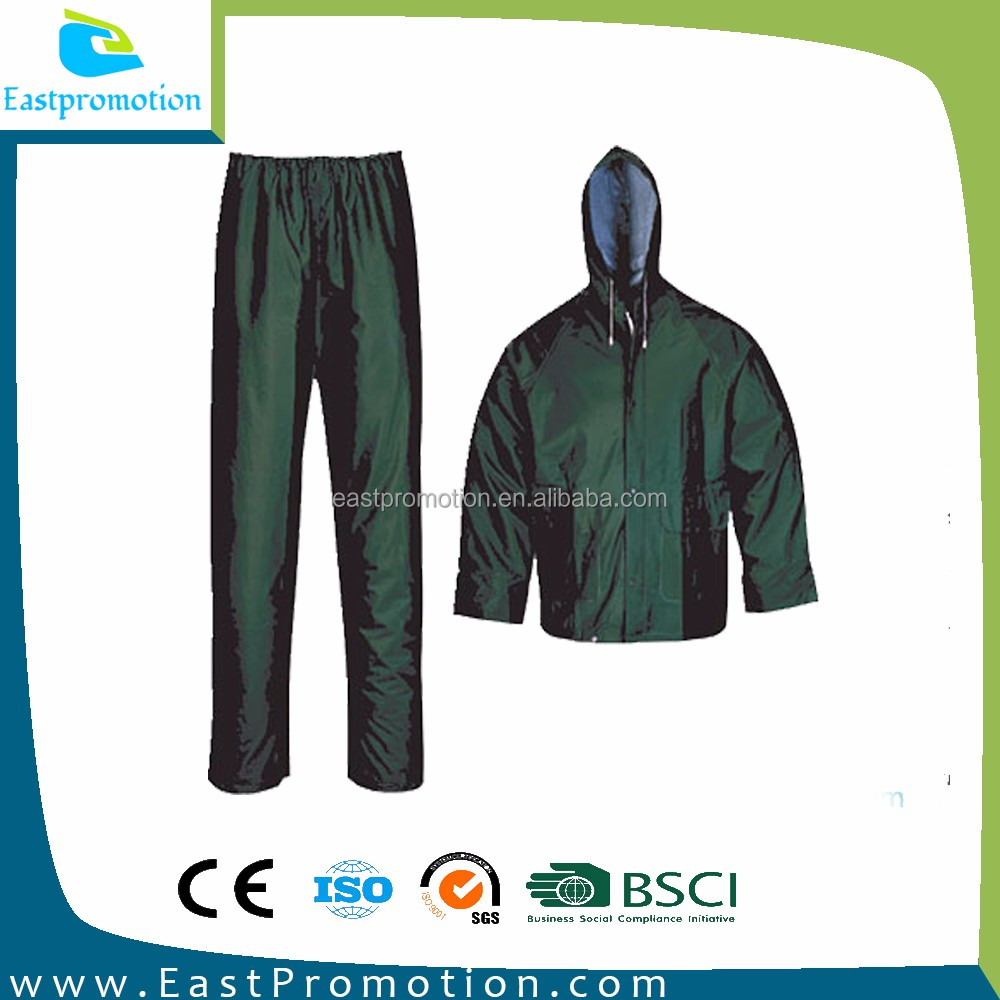 WATERPROOF SOFT POLYESTER RAINCOATS RAINSUIT MOTORCYCLE USED FULL LENGTH ON WHOLESALE