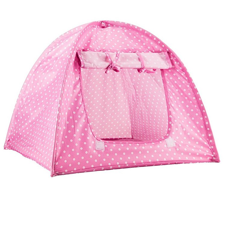 Pet House Tent for Small Size Dogs and Cats Green/Pink/Yellow Colors
