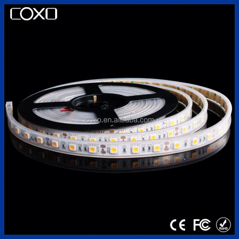 edgelight flexible led strip car waterproof 5050 RGB led lighting color with controller