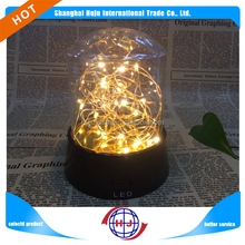 LED Firetree silver lantern night light projector in baby room