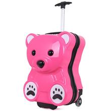 China 2 Wheeled 3D Animal Funny Cute Bear PC Trolley School Suitcase for Children