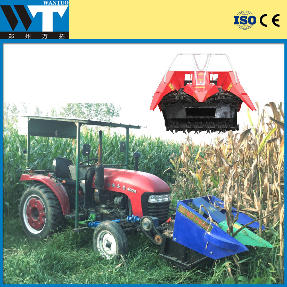 Mini tractor mounted maize harvester corn harvester price