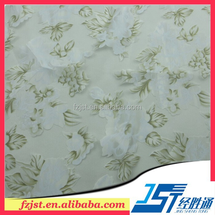 Printing Chiffon Embroidery voile Fabric for girls dress