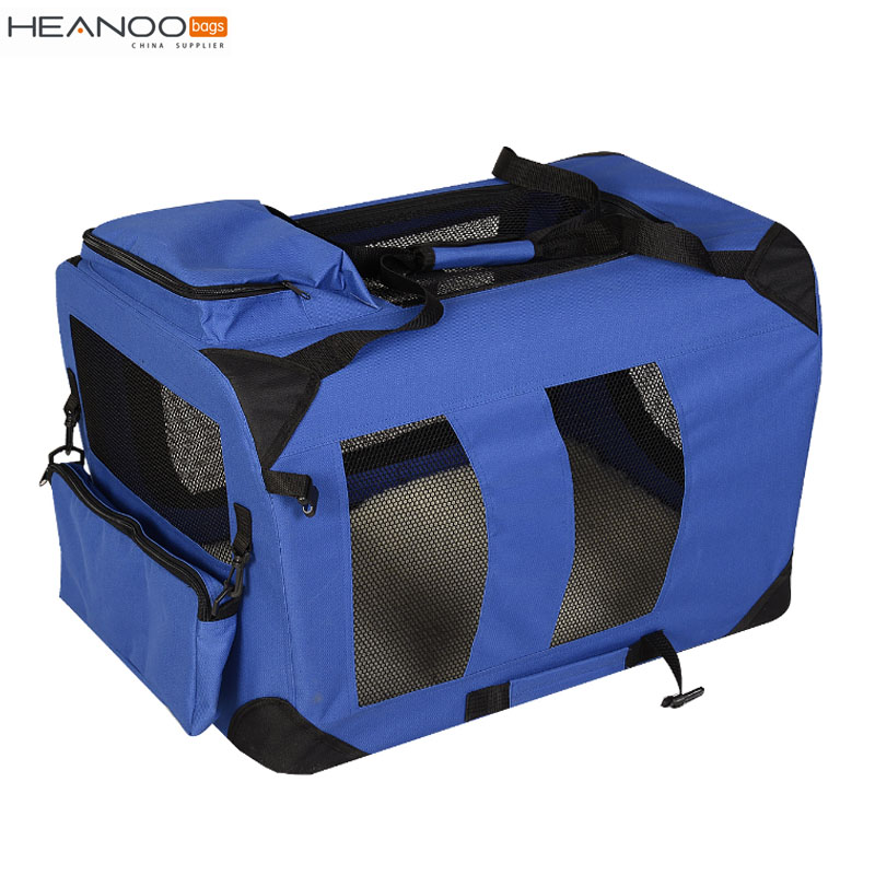 Folding mesh Lightweight Fabric cat cage soft Pet Carrier dog Crate