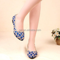 Spring flat shoes, Colorful Beijing cloth shoes for women