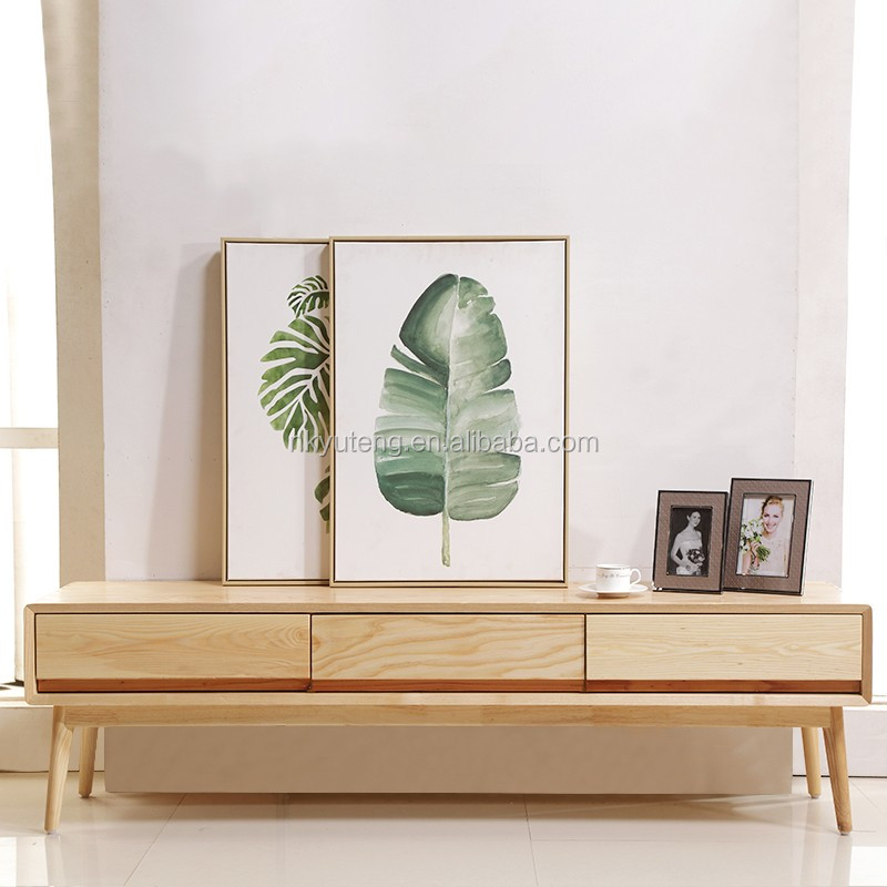 modern wooden led tv stand furniture with showcase supplier