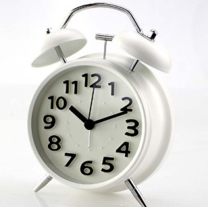 Modern Simple No-Ticking Desk 3D Numerals Alarm Clock with Light