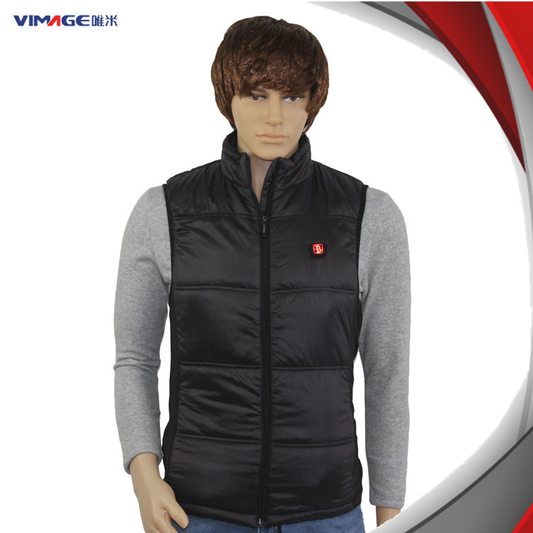 Electrical Heated Clothes Winter Vest Battery Operated With 8.4V 1.2A Adapter