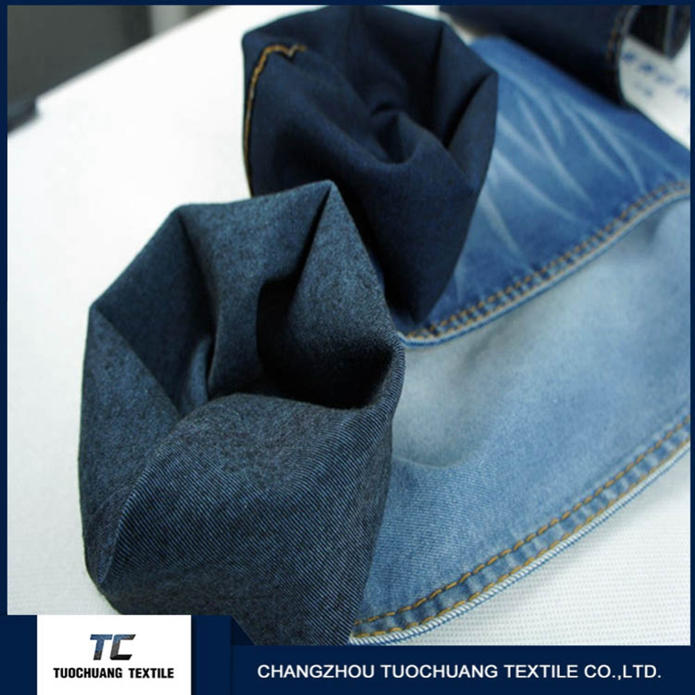 Good price recycled denim fabric with SGS certificate