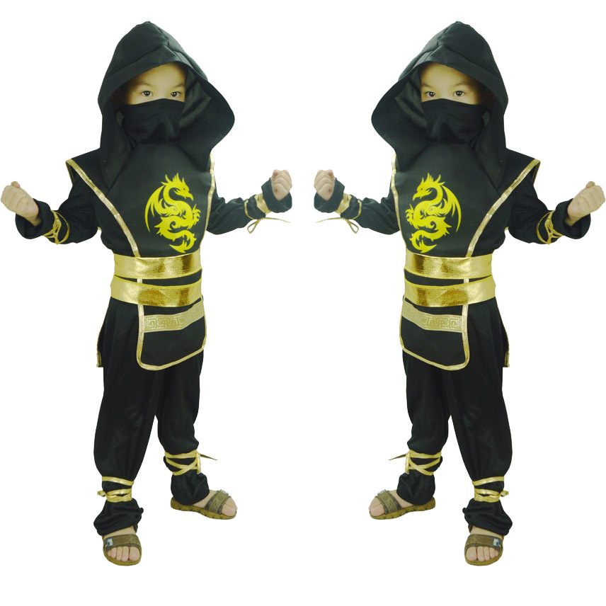 Halloween cosplay children creative party ninja costume