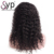 Discount Quality Raw Virgin Peruvian Premium Human Hair Long Curly Lace Front Wigs
