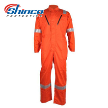 Wholesale cotton firefighter uniform fireproof reflective coverall