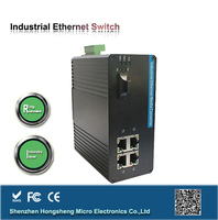 5 ports industrial ethernet controlled power switch with sfp modules