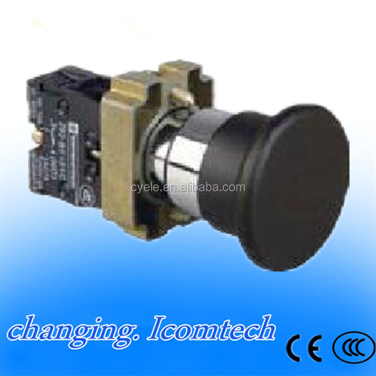 XB2-BC21 <strong>1</strong> NO Momentary Black Mushroom Head Push Button Switch N/<strong>O</strong> Brand New