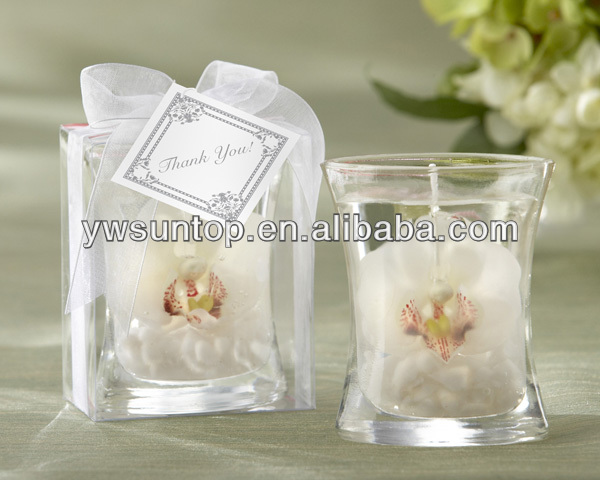 White Butterfly orchid JellyTealight Holder as wedding favor