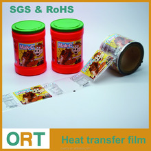 2017 Shanghai New Design Plastic Container Printing Heat Transfer Film