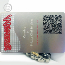Popular print portrait metal <strong>card</strong> with qr code