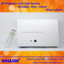 Micro dlp led 3D Projector convert 2D movie to 3D with Amazing display effect Beamer Projector contrast ratio 4000:1