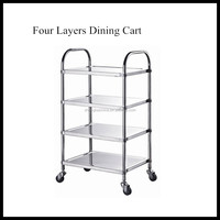 Commercial Stainless Steel Kitchen Serving Food Cart
