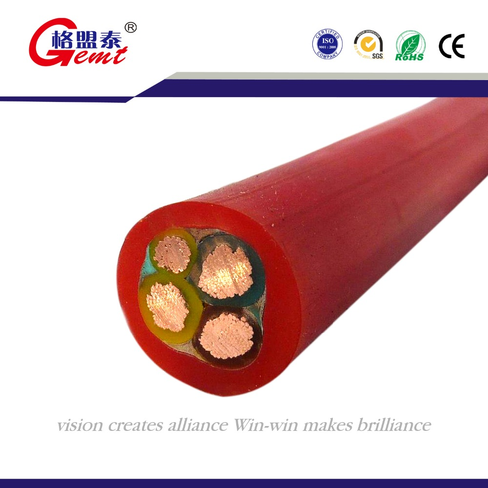 200 degrees silicone insulated rubber power lead wire cable 10AWG