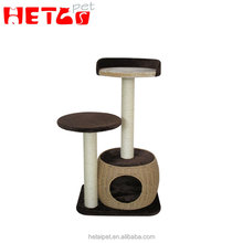 Hot selling wooden cat tree beautifully designed cat tree scratcher to ceiling