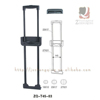 Extendable Luggage Accessories Parts Plastic Trolley Drawbar