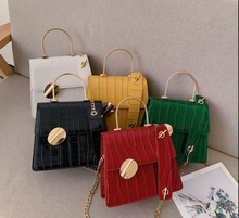 2019 New Arrival Ring Handle Alligator Leather Fashion Luxury Women Handbags One Shoulder Bag With <strong>Chain</strong>