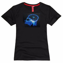 musical EL WIFI t shirts, LED flash T-Shirt