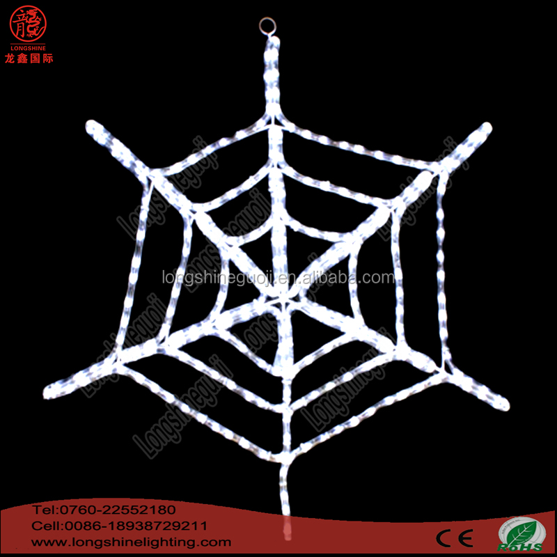 Holiday Halloween LED Spider Web Decorations Light