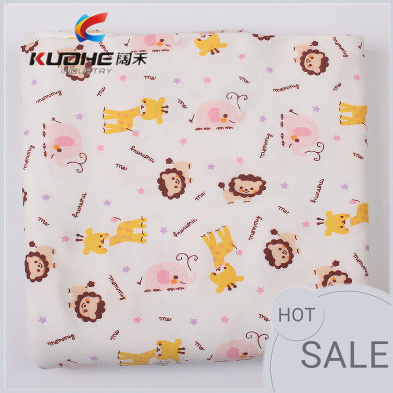 100% cotton knit fabric for baby products and clothing