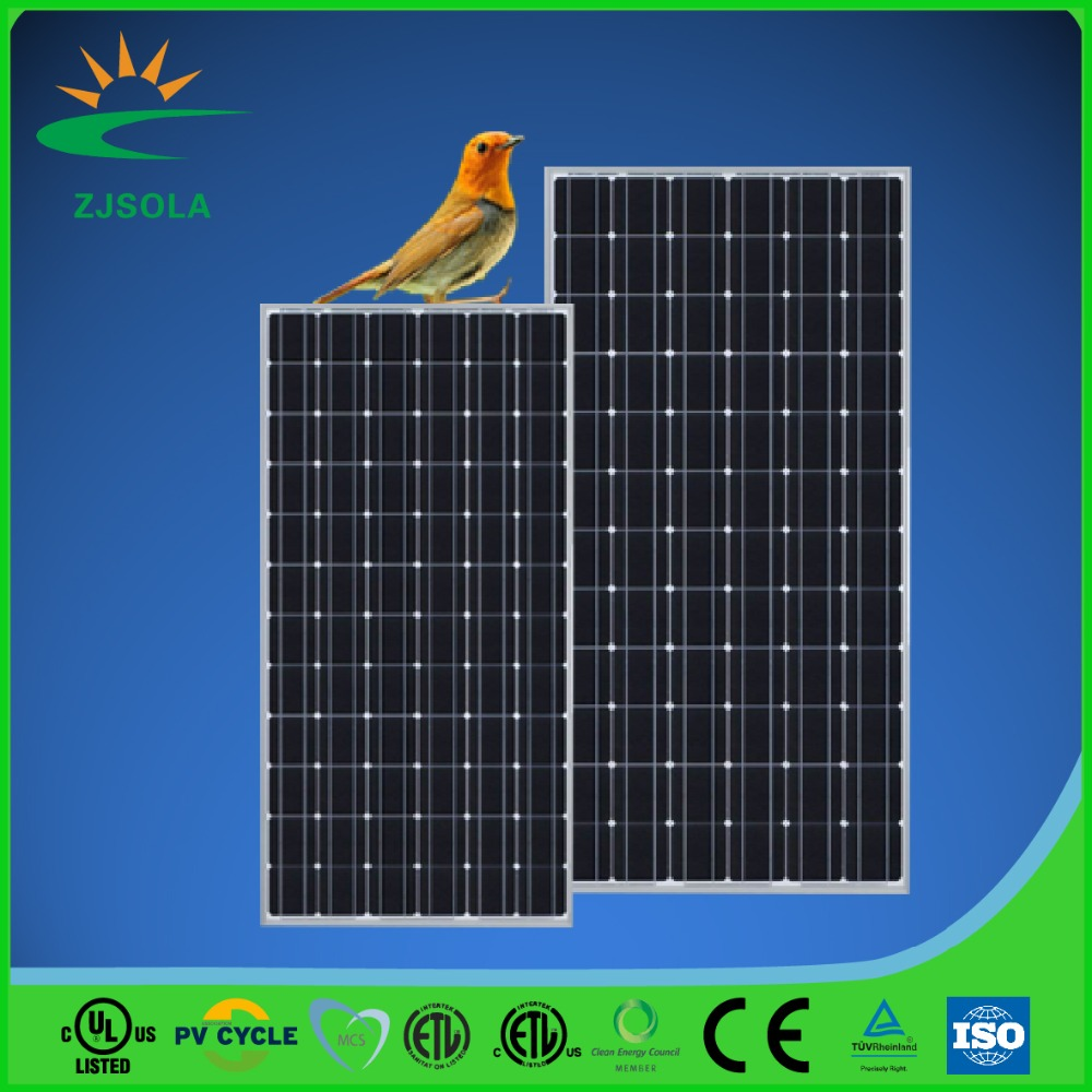 ZJSOLA China best price suntech solar panel 300w monocrystalline silicon solar panel