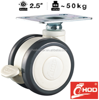 H9 Series Medical Caster Swivel 63mm PU wheel