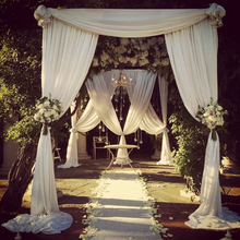 Wedding event decoration for chiffon pipe and drape panel