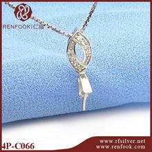 RenFook factory direct sale 925 sterling silver cross line pinch setting with compititive price