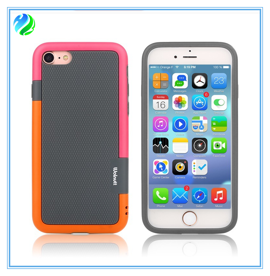 2 in1 colors new style cell phone case for iphone6/6s/6 plus,7/7 plus with high quality and reasonable price