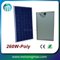 Poly mono 260w photovoltaic solar panel manufacturers in china