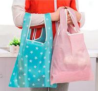 Custom OEM Full printing sublimation Waterproof reusable foldable bag for shopping