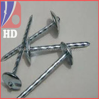 umbrella head roofing nails with rubber washer 25kg/ctn