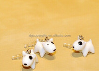 PVC plastic bull terrier cow dog mobile phone dust plugs