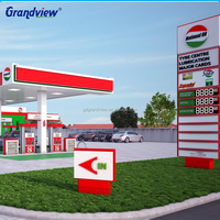 Project design petrol station for sale, factory price gas station price signs