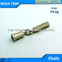 Custom small Metal bag ornament Like a Small Bell Light Gold color 44.2g