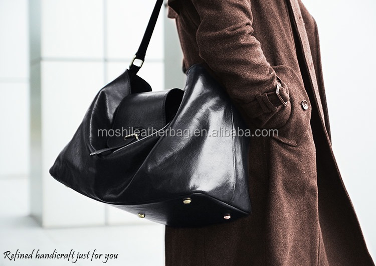Custom Handmade Shoulder Bag Women Handbag 100% Vegetable Tanned Italian Leather Tote Bag D047