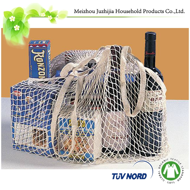 Cotton Net Shopping Tote Ecology Market Mesh Produce Bag