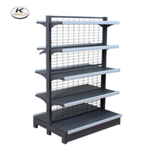 Retail Sales Display Gondola Racks With Gridwall Panel