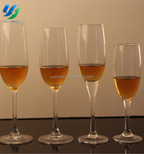 Elegant Clear Champagne Glass Drinking Glass Cup 100ml For Chana OEM
