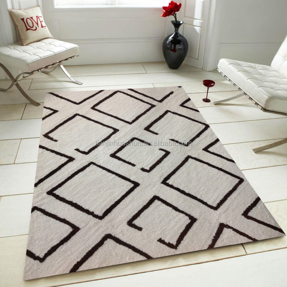 100% polyester modern design shaggy rugs