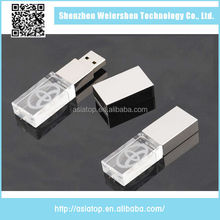 Transparent 4GB New design Crystal 128gb mini usb flash drive